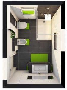 Das Neue Bad Im 3 D Grundriss