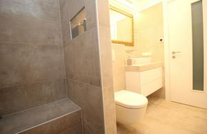 Bild zeigt Dusche und WC