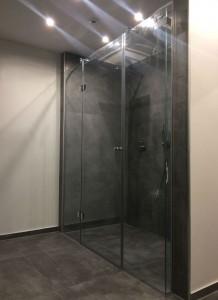 Dusche Glaswand